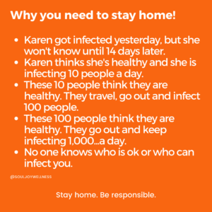 Why you need to stay home!